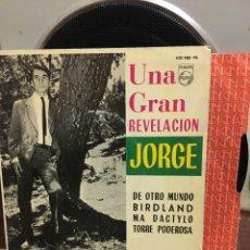 Discos de vinilo: JORGE-UNA GRAN REVELACION-DE OTRO MUNDO+3-1964-CONSERVA ENCARTE-EXCELENTE ESTADO. Lote 188598677