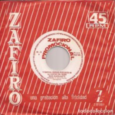 Discos de vinilo: SINGLE DUO RADIANT´S PIMIENTA/BALADI...BALADI ZAFIRO PROMOCIONAL 1964 . Lote 188624037