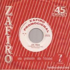 Discos de vinilo: SINGLE LOS PEKES TE QUIERO BABY/DE CHICA EN CHICA ZAFIRO PROMOCIONAL SPAIN 1964. Lote 188624353