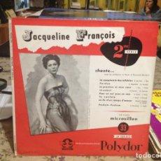 Discos de vinilo: JACQUELINE FRANCOIS - CHANTE... 2E SERIE / RARE LP 10' 1956 NOUVEAU LP NON UTILISÉ, NM-M. Lote 188624466