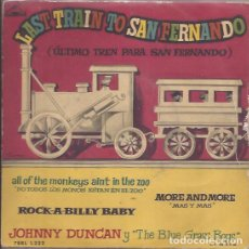 Discos de vinilo: EP JOHNNY DUNCAN LAST TRAIN TO SAN FERNANDO LA VOZ DE SU AMO 1222 SPAIN. Lote 188624993
