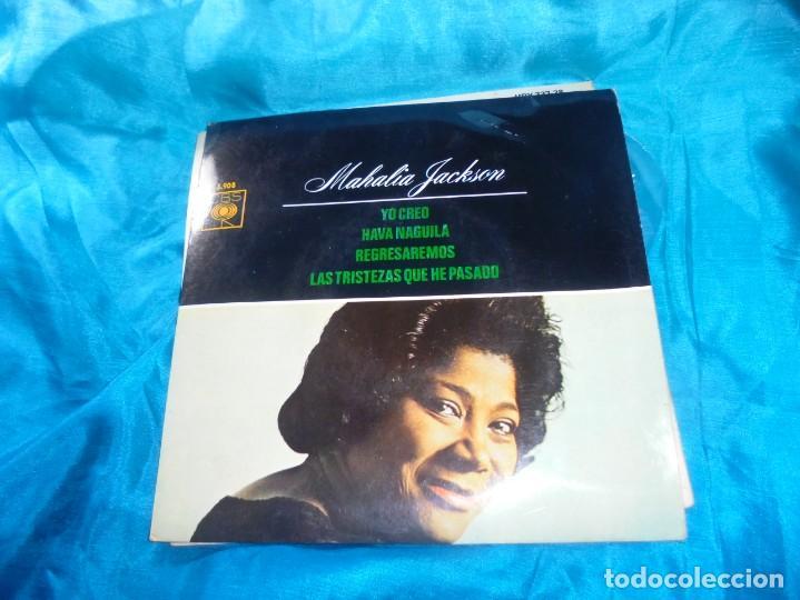 MAHALIA JACKSON. YO CREO + 3. EP. CBS, 1964. SPAIN. IMPECABLE. (#) (Música - Discos de Vinilo - EPs - Jazz, Jazz-Rock, Blues y R&B)