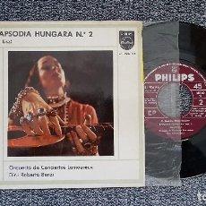 Discos de vinilo: RAPSODIA HUNGARA Nº 2. COMPOSITOR ( FR. LISZT) DIR. ROBERTO BENZI. AÑO ,1.964. Lote 188638112