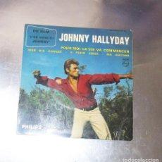 Discos de vinilo: JOHNNY HALLYDAY---- POUR MOI LA VIE VA COMMENCER + 3 ( NM OR M- ) ( VG+ ). Lote 187450390