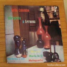 Discos de vinilo: NELLA COLOMBO -EP VINILO 7''- LA BRISA Y YO / SIBONEY / MALAGUEÑA / MARIA LA O. Lote 188672967