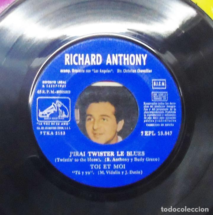 Discos de vinilo: RICHARD ANTHONY ---J´ENTENDS SIFFLER LE TRAIN AÑO 1962 ----- ( NUEVO ) ***COL *** - Foto 6 - 178156077