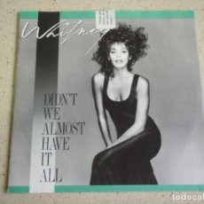 Dischi in vinile: WHITNEY HOUSTON ?– DIDN'T WE ALMOST HAVE IT ALL - SHOCK ME 1987- GERMANY SINGLE ARISTA. Lote 188708550