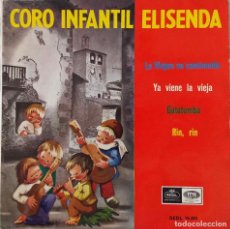 Discos de vinilo: CORO INFANTIL ELISENDA. LA VIRGEN VA CAMINANDO + 3 TEMAS. EP. Lote 188713981