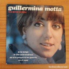 Discos de vinilo: GUILLERMINA MOTTA -EP VINILO 7''- JA FA TEMPS / LA FLOR DE LA TENDRESA / NO SE.... Lote 188715958