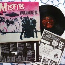 Discos de vinilo: MISFITS WALK AMONG US LP MUY RARO ORIGINAL 1ª EDICIÓN 1982 AMERICANA + INSERTS. Lote 188724116