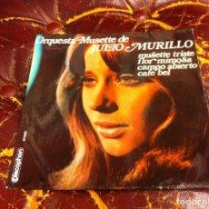 Discos de vinilo: SINGLE / EP. ORQUESTA MUSETTE DE JULIO MURILLO. MUSETTE TRISTE. FLOR MIMOSA...1969, ESPAÑA. Lote 188743328