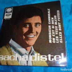 Discos de vinilo: SACHA DISTEL. MONSIEUR CANNIBALE + 3. EP. LA VOZ DE SU AMO, 1966. PROMO. SPAIN. IMPECABLE (#). Lote 188743353