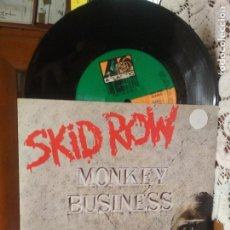 Disques de vinyle: SKID ROW MONKEY BUSINESS SINGLE GERMANY 1991 PDELUXE. Lote 188761885