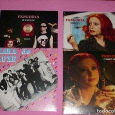 Discos de vinilo: FANGORIA Y KAKA DE LUXE PACK DE 4 SINGLES (VINILO PEQUEÑO). Lote 188791490