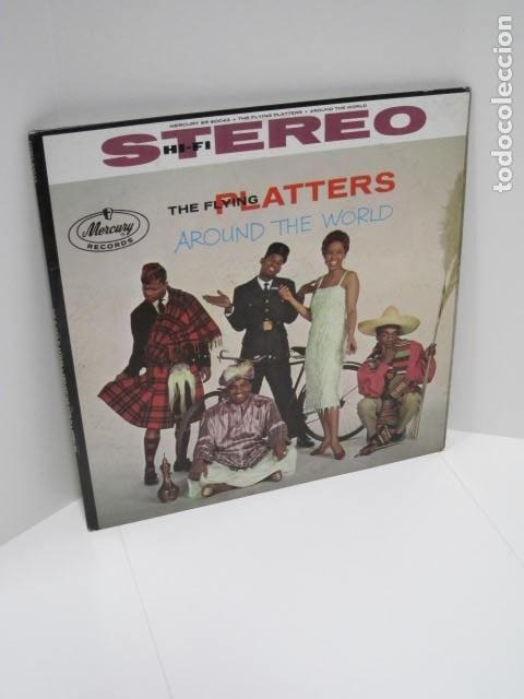 THE FLYING PLATTERS AROUND THE WORLD. 12 CANCIONES. FOR THE FIRST TIME, THAT OLD FEELING. (Música - Discos de Vinilo - Maxi Singles - Otros estilos)