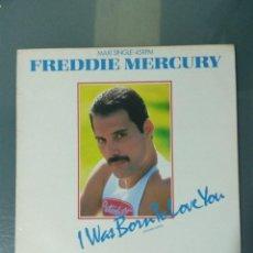 Discos de vinilo: FREDDIE MERCURY - I WAS BORN TO LOVE YOU (1985). MAXI SINGLE.. Lote 188815943