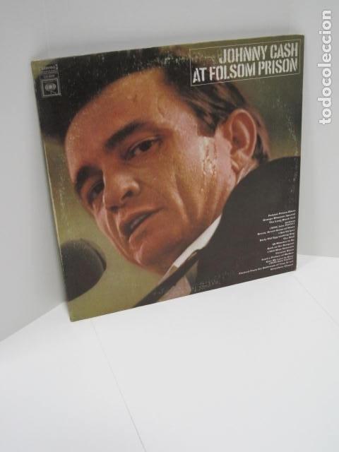 JOHNNY CASH, AT FOLSOM PRISON. LP VINILO. 16 CANCIONES. NEW YORK, U.S.A. THE WALL, 25 MINUTES TO GO. (Música - Discos de Vinilo - Maxi Singles - Jazz, Jazz-Rock, Blues y R&B)