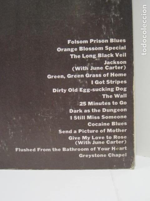 Discos de vinilo: JOHNNY CASH, AT FOLSOM PRISON. LP VINILO. 16 CANCIONES. NEW YORK, U.S.A. THE WALL, 25 MINUTES TO GO. - Foto 2 - 188816862
