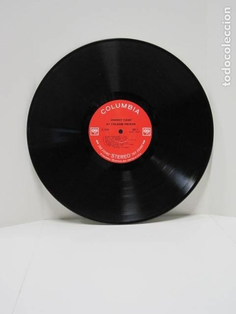 Discos de vinilo: JOHNNY CASH, AT FOLSOM PRISON. LP VINILO. 16 CANCIONES. NEW YORK, U.S.A. THE WALL, 25 MINUTES TO GO. - Foto 6 - 188816862