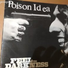 Discos de vinilo: POISON IDEA FEEL THE DARKNESS LP 1990 INSERTO. Lote 188831958
