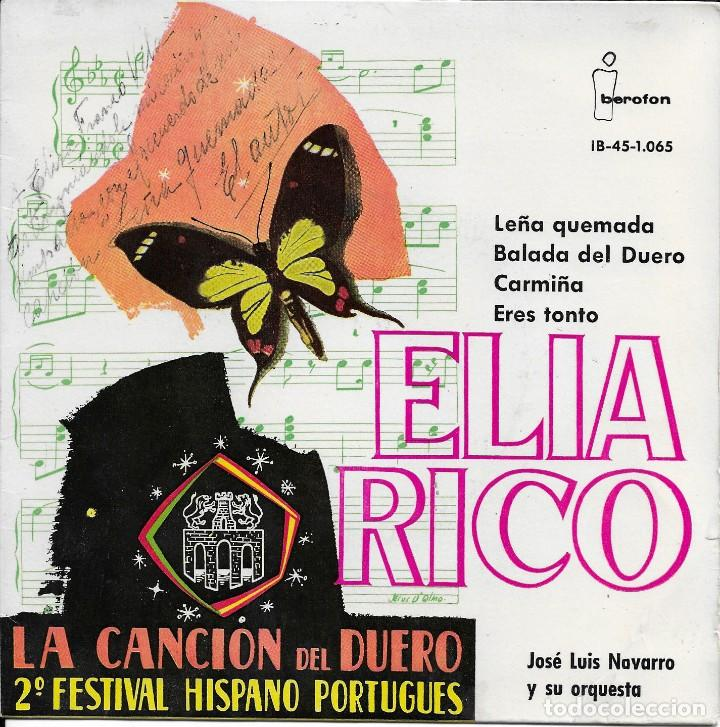 ELIA RICO LEÑA QUEMADA IBEROFON 1961 (Música - Discos de Vinilo - EPs - Solistas Españoles de los 50 y 60)