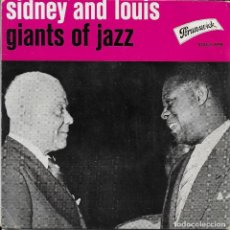 Discos de vinilo: LOUIS ARMSTRONG AND SIDNEY BECHET PERDIDO STREET BLUES BRUNSWICK 1957. Lote 188863618