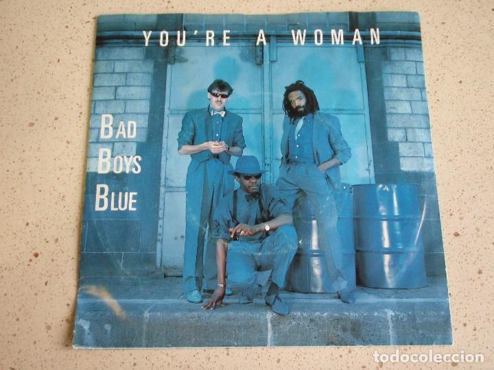 BAD BOYS BLUE – YOU'RE A WOMAN 2VERSIONES 1985-SCANDINAVIA SINGLE MEGA RECORDS (Música - Discos de Vinilo - Maxi Singles - Pop - Rock Extranjero de los 50 y 60)