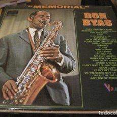 Discos de vinilo: LP MEMORIAL DON BYAS DOBLE LP JAZZ VOGUE. Lote 189074148