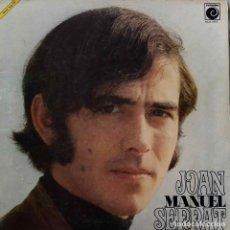 Discos de vinilo: JOAN MANUEL SERRAT. LP ORIGINAL CON PORTADA DOBLE O ABIERTA + PÁGINAS DE PAPEL CEBOLLA. Lote 189082418