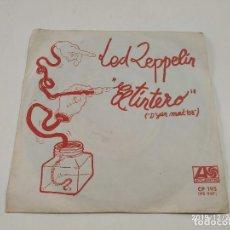 Discos de vinilo: SINGLE PROMOCIONAL LED ZEPPELIN - EL TINTERO (D'YER MAK'ER)/LA ILUSIÓN (THE CRUNGE) - BUEN ESTADO. Lote 189111490