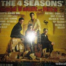 Discos de vinilo: THE 4 SEASONS - GOLD VAULT OF HITS LP - ORIGINAL U.S.A. - PHILIPS RECORDSD 1965 MONOAURAL. Lote 189112443
