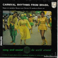 Discos de vinilo: CONJUNTO MARACANGELHA CARNIVAL RHYTHMS FROM BRASIL PHILIPS. Lote 189134407