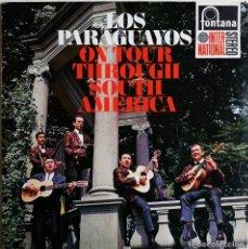 Discos de vinilo: LOS PARAGUAYOS – LOS PARAGUAYOS ON TOUR THROUGH SOUTH AMERICA, FONTANA INTERNATIONAL 858 059 FPY. Lote 189136630