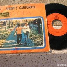 Discos de vinil: DISCO DEL GRUPO SIMON Y GARFUNKEL ,TEMAS CECILIA Y EL UNICO MUCHACHO. Lote 189137033