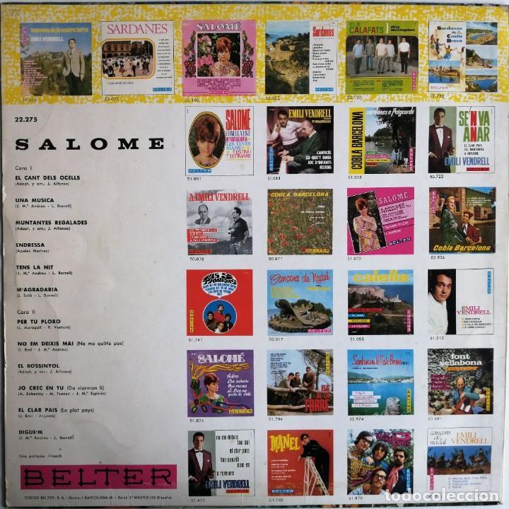 Discos de vinilo: Salomé - Salomé, Belter 22.275 - Foto 2 - 189154042