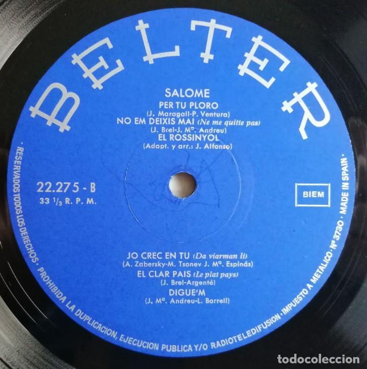 Discos de vinilo: Salomé - Salomé, Belter 22.275 - Foto 4 - 189154042