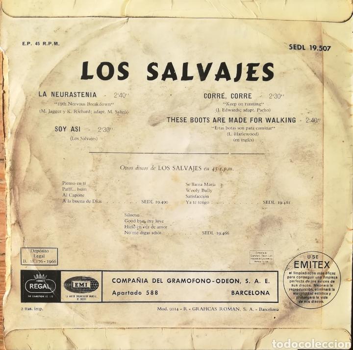 Discos de vinilo: Disco Los Salvajes - Foto 2 - 189166416