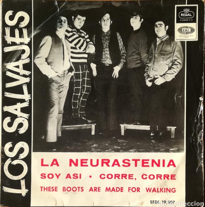 DISCO LOS SALVAJES (Música - Discos de Vinilo - EPs - Grupos Españoles 50 y 60)
