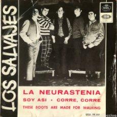 Discos de vinilo: DISCO LOS SALVAJES. Lote 189166416