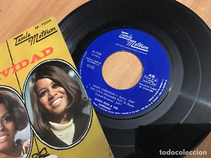 Discos de vinilo: DIANA ROSS & THE SUPREMES FELIZ NAVIDAD (WHITE CHRISTMAS +3) EP ESPAÑA 1968 (EPI03) - Foto 2 - 189171917