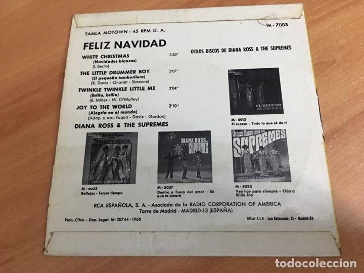 Discos de vinilo: DIANA ROSS & THE SUPREMES FELIZ NAVIDAD (WHITE CHRISTMAS +3) EP ESPAÑA 1968 (EPI03) - Foto 3 - 189171917