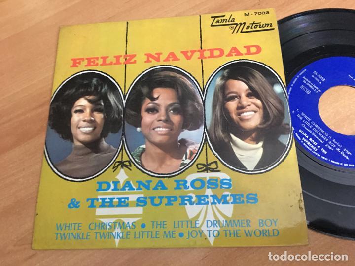 DIANA ROSS & THE SUPREMES FELIZ NAVIDAD (WHITE CHRISTMAS +3) EP ESPAÑA 1968 (EPI03) (Música - Discos de Vinilo - EPs - Funk, Soul y Black Music)