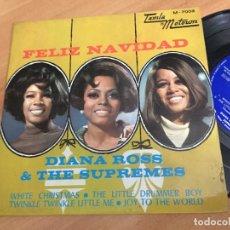Discos de vinilo: DIANA ROSS & THE SUPREMES FELIZ NAVIDAD (WHITE CHRISTMAS +3) EP ESPAÑA 1968 (EPI03). Lote 189171917