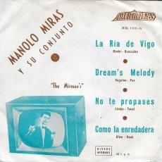 Discos de vinilo: MANOLO MIRAS Y SU CONJUNTO LA RIA DE VIGO MIRMANS 1964. Lote 189193637