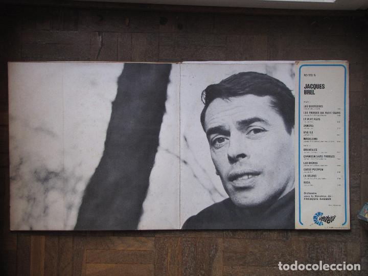 Discos de vinilo: Jacques Brel. Barclay, Vedettes, 80 173 S. Francia, 1970. - Foto 3 - 189199966