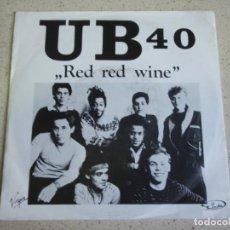 Discos de vinilo: UB40 – RED RED WINE - SUFFERIN 1988-EEC SINGLE VIRGIN. Lote 189200493