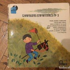 Discos de vinilo: LES CHŒURS DES ENFANTS DE PARIS – CHANSON ENFANTINES N°3 SELLO: FONTANA – 6281 003 FORMATO: VINYL. Lote 189217643