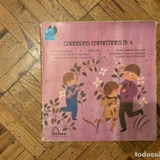 Discos de vinilo: CHANSONS ENFANTINES N°4 DISQUE 45T 7 EP LIVRE CHOEURS DES ENFANTS DE PARIS . Lote 189217836
