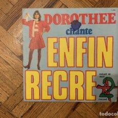 Discos de vinilo: DOROTHEE - CHANTE ENFIN RECRE A2 - DISCOGRÁFICA : AB PRENSADO : 11054 - FRANCE AÑO : 1981. Lote 189218262