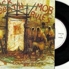 Discos de vinilo: BLACK SABBATH. MOB RULES -- DOMINA LA MASA (VINILO SINGLE 1981. Lote 189218532